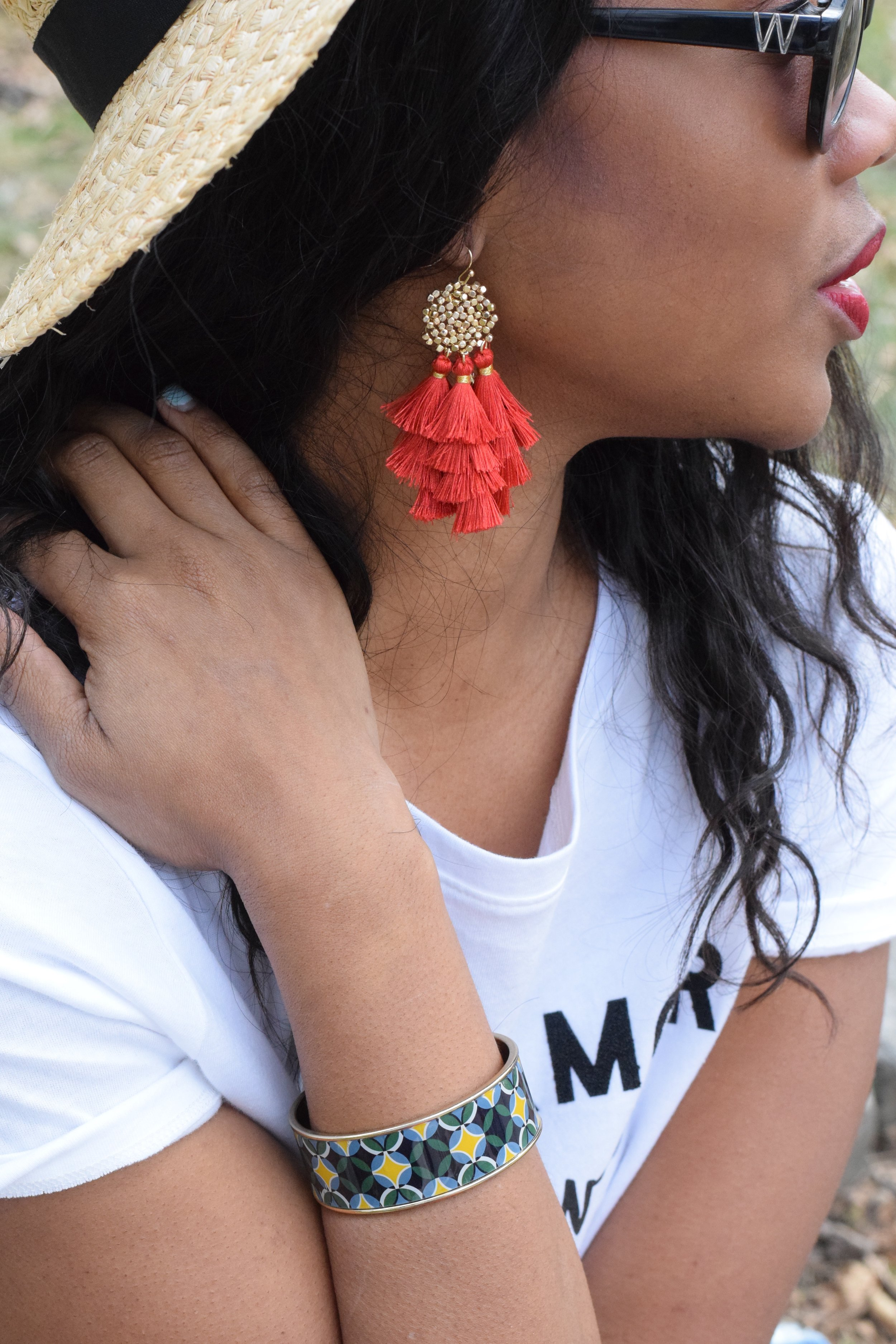Earrings - vici collection (@vicidolls); sunnies - wildfox (@wildfox)