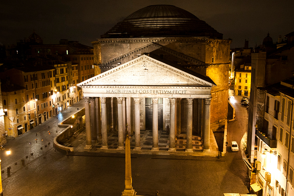 Image photographed from our apartment across the Pantheon, Rome.