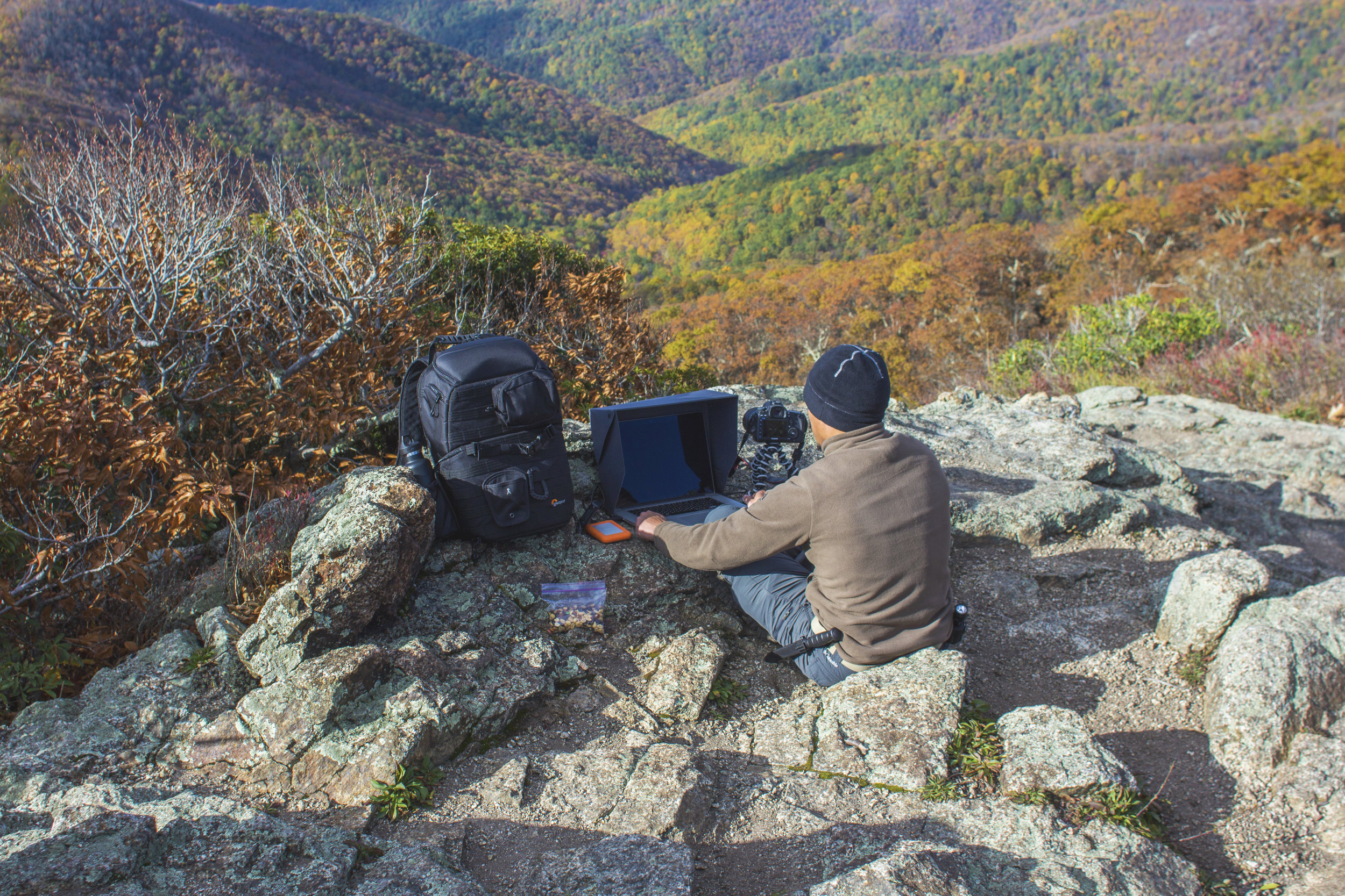me working Mt Pleasant. Rated Top 10 Fall views by Travel & Leisure Magazine 2014