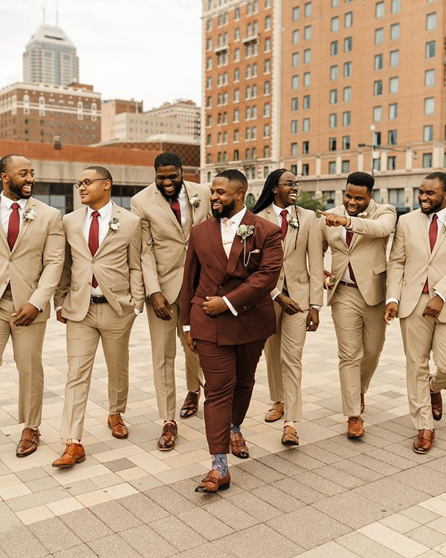 """""""There's no others, like my brothers, I want by my side, as I marry my bride."""" // Groom's Attire: @jojayden // Groomsmen Attire: @azarsuits"""