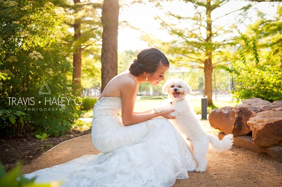 Myriad Gradens OKC Bridal Portraits Travis and Haley G