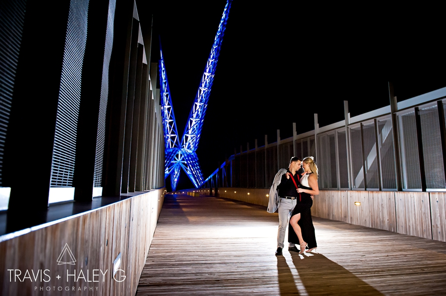 modern oklahoma city engagement photography - skydance bridge - travis and haley g