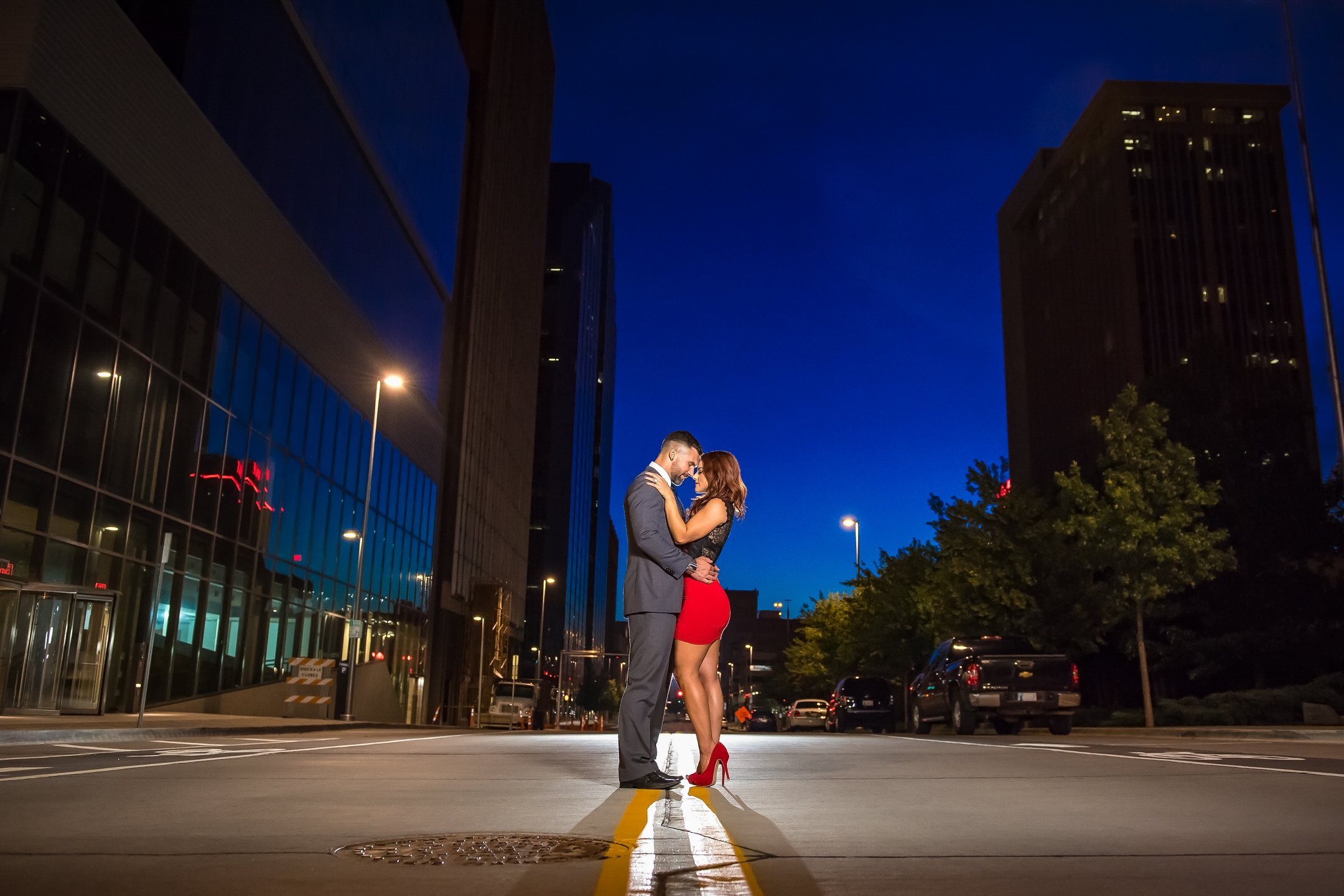 Downtown Oklahoma City Engagement Photography