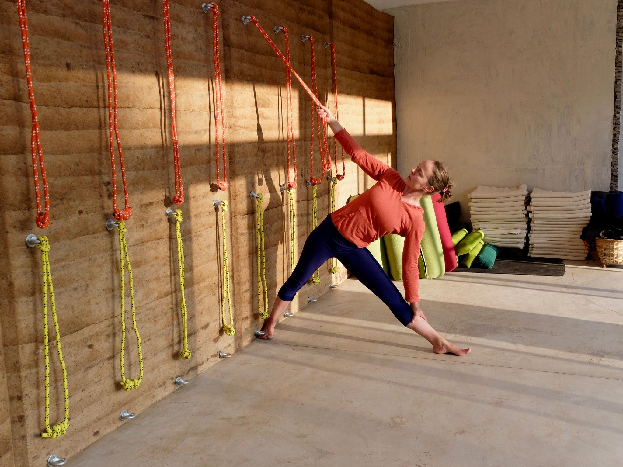 Rope wall at Vishuddhi Alaya