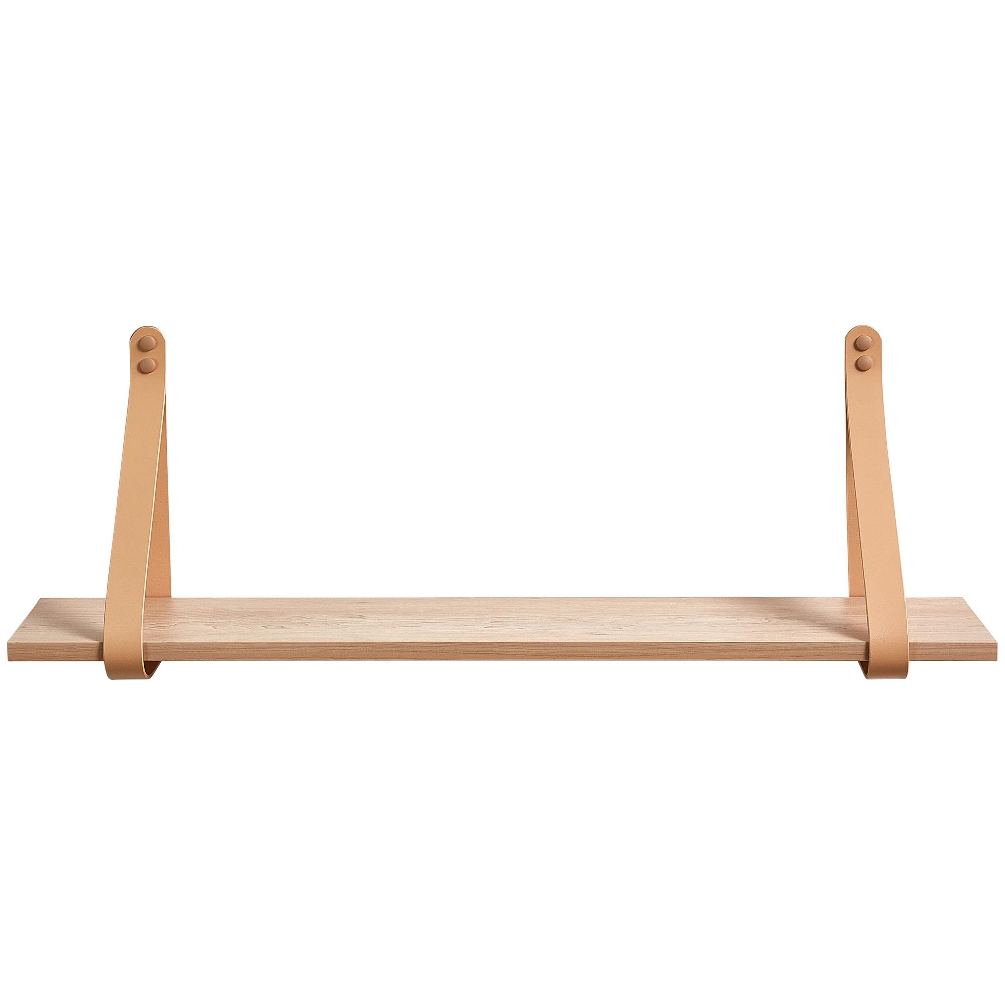 Zanui, Medium Nude Leather Strap Shelf, $159