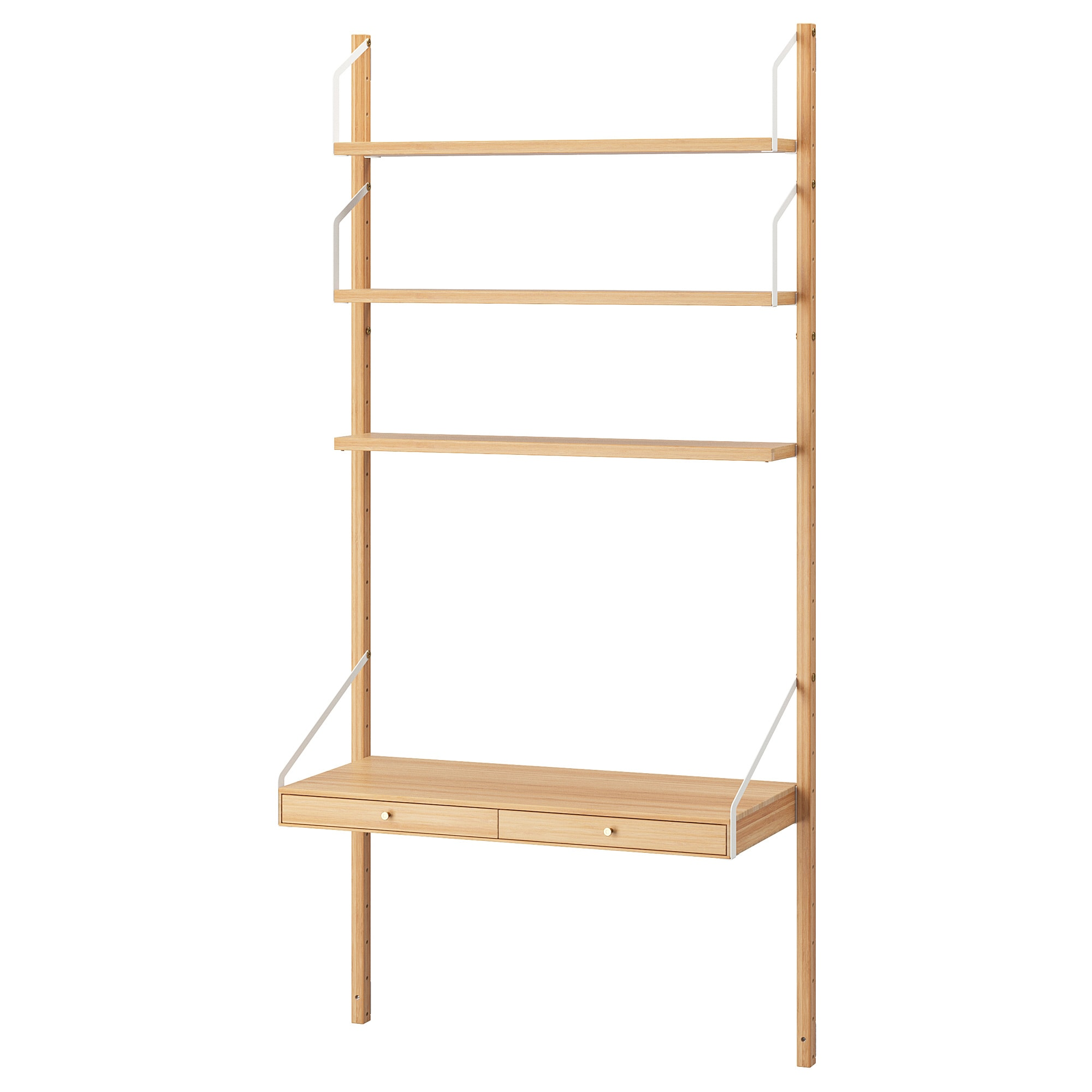 IKEA, SVALNÄS Wall-mounted workspace combination, bamboo, $210