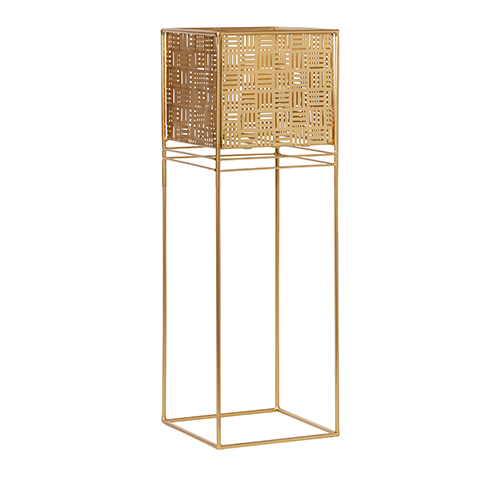 Adairs, Home Republic Monterey Plant Stand in Gold, $79.99