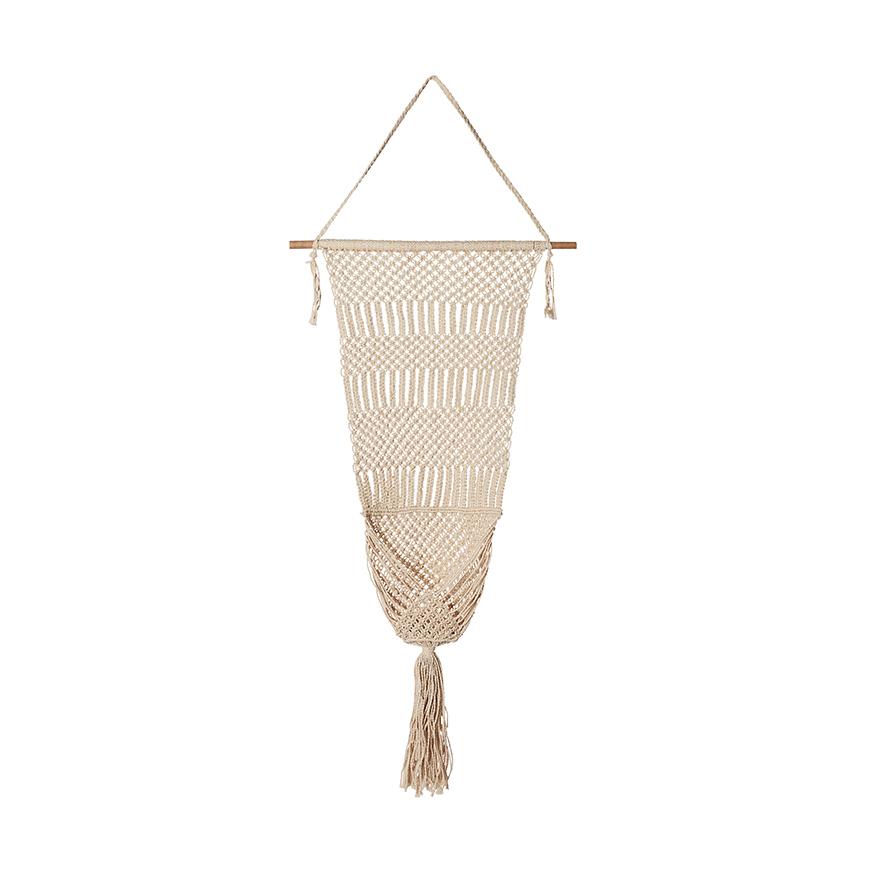Adairs, Home Republic Boho Medium Natural Hanging Pot, $49.99