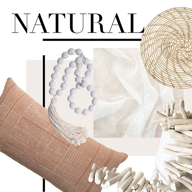 //NATURAL// Natural is boring? That's coconuts… 🥥 just saying🌴 . Natural decor is like a treasure trove full of beautiful materials, textures and raw elements that celebrate all that earthy goodness.  Natural colours and objects have a way of making home feel homier, warmer and full of delicious eye candy 💖 from driftwood, linens and rattan. Nothing says luxury more than natural decor.
