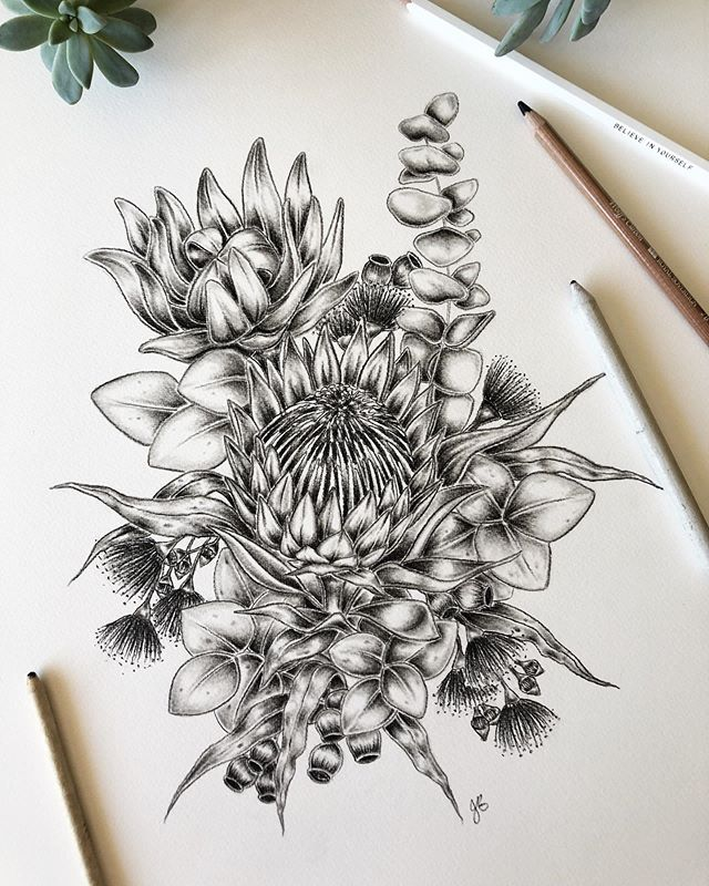 This little piece has been stowed away in a drawer for a few weeks now. It's charcoal on watercolour paper and whilst I love this gorgeous bouquet of natives 💐every time I finish a piece it challenges me to make the next one better 👩🏻‍🎨 spring has inspired to get me creating again!  If you have any flower suggestions for my next piece I'd love to know! 🌿🌸🍃🌷🌱