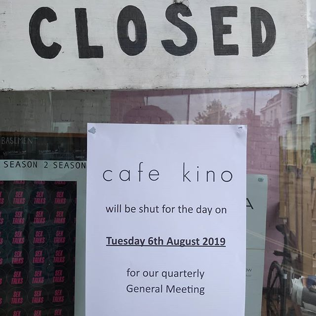 As a workers cooperative we need to take time off for our GM's to help us make decisions and run everything. Because of this we will be shut today (Tuesday 6th August)  apologies for any inconvenience!  #workerscoop #workerowned #vegancafe #bristolcafe