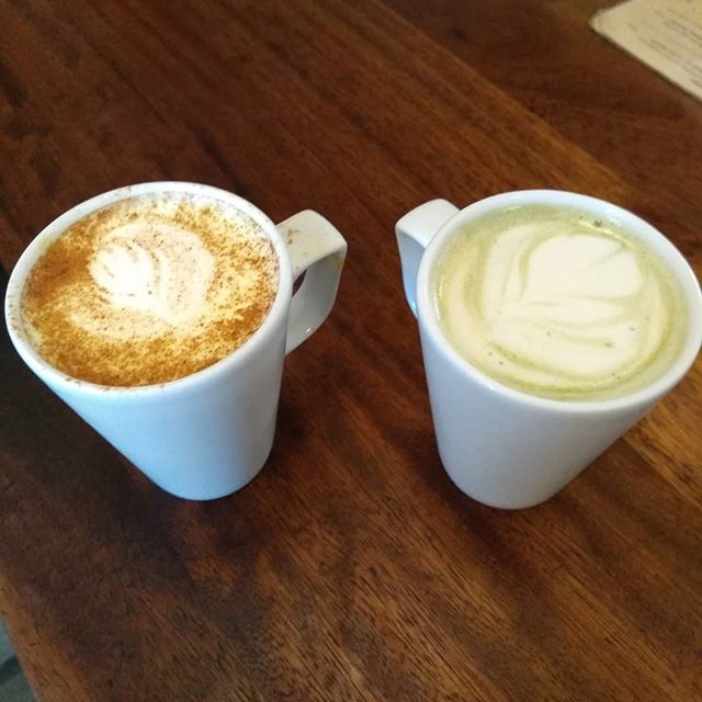 Introducing some new additions to the menu. Matcha Latte +Turmeric Latte. Absolutely delish and perfect for these cold rainy Autumn evenings.