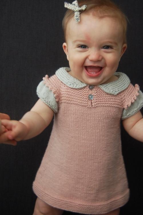 Claudine dress and top knitting pattern by Lisa Chemery - Frogginette Knitting Patterns