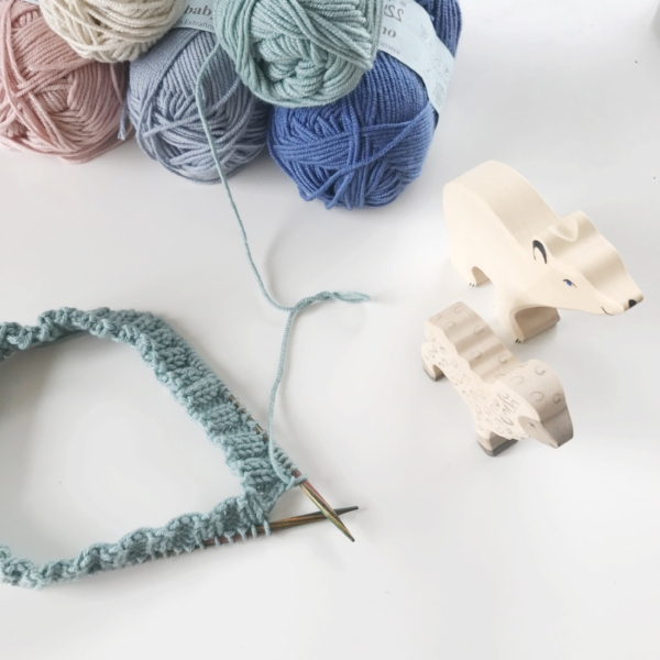 Knitting for a new baby by Frogginette Knitting Patterns