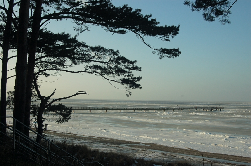 The Ostsee, frozen over.