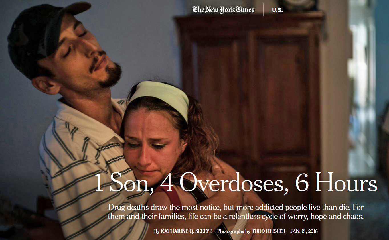 The New York Times :  1 Son, 4 Overdoses, 6 Hours