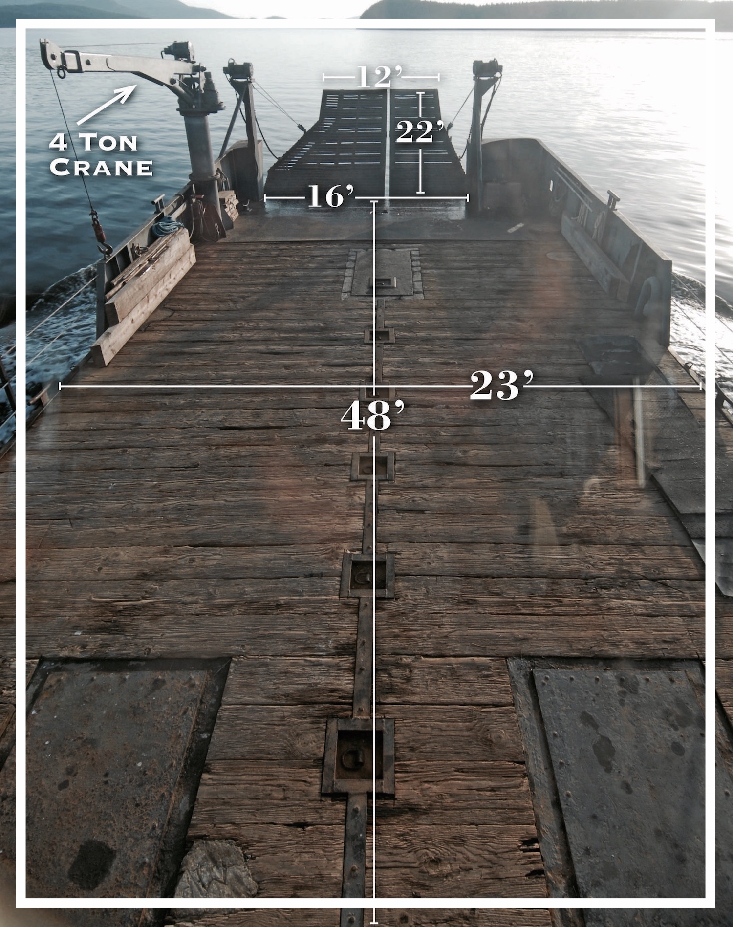 Pintail deck and ramp dimensions