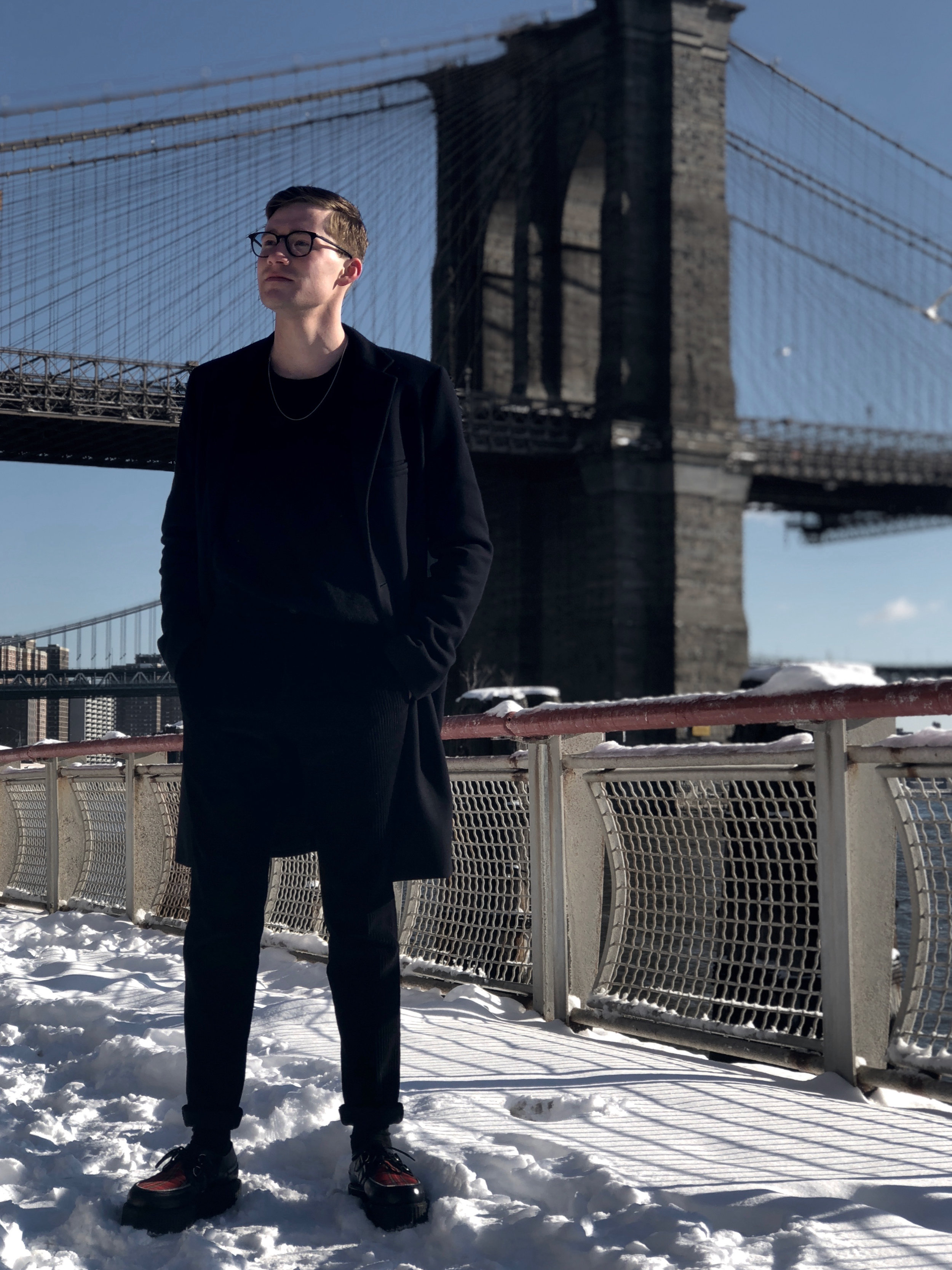 Wearing Warby Parker  glasses , Jil Sander coat, COS  jumper (on sale),A.P.C.  corduroy (on sale),  shoes  I found on Amazon