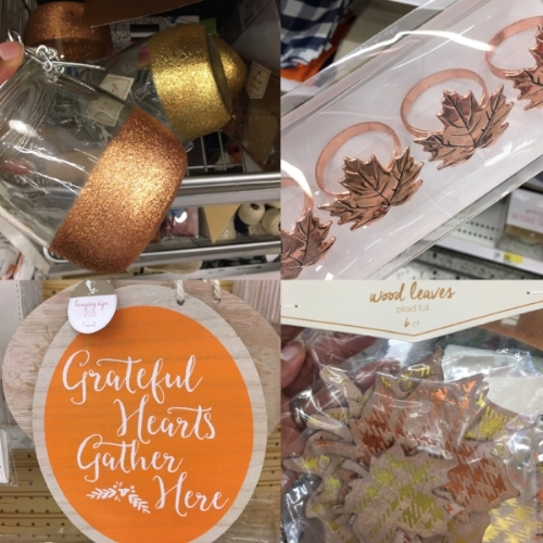 A few fall decor items I found this week in the dollar bins at Target!