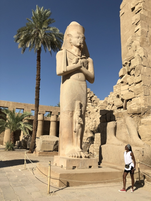 Karnak Temple - King Ramses II and his beloved Queen Nefertari