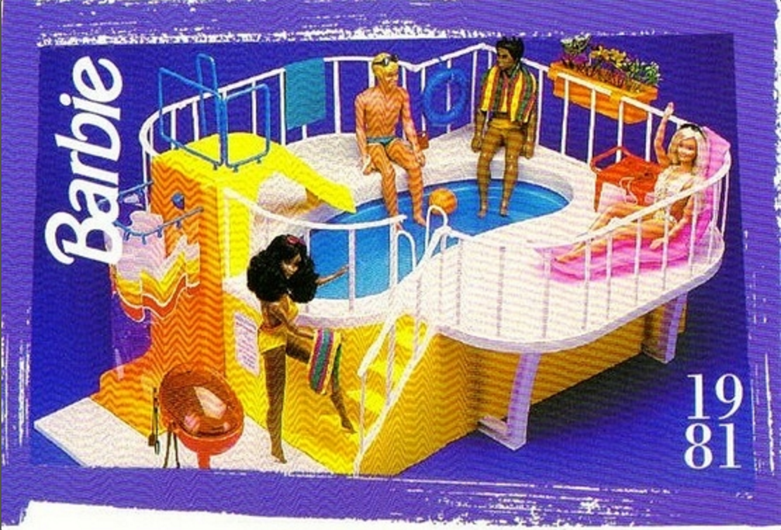 This is what sat on my bedroom floor in the 1980s--next to my pink Barbie dream house.