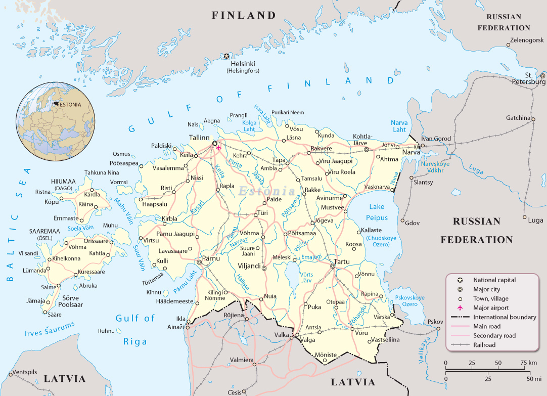 My current neighbors: Finland, Latvia and Russia.