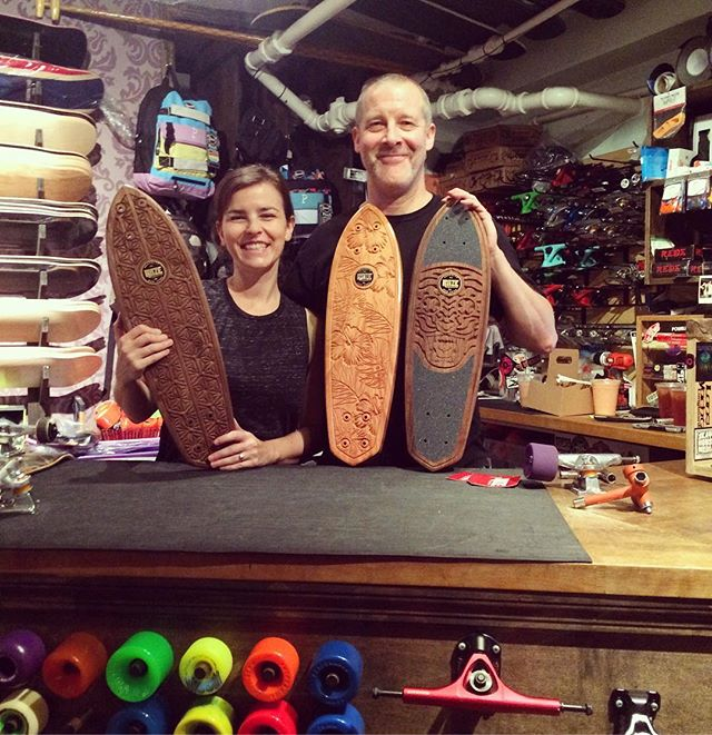 Shout out to the good people @unclefunkysboards and @eastriverskateshop for  picking up some decks🏄🏽🌺 #skateboards #skateart #surfboard #60sskateboarding #newyork