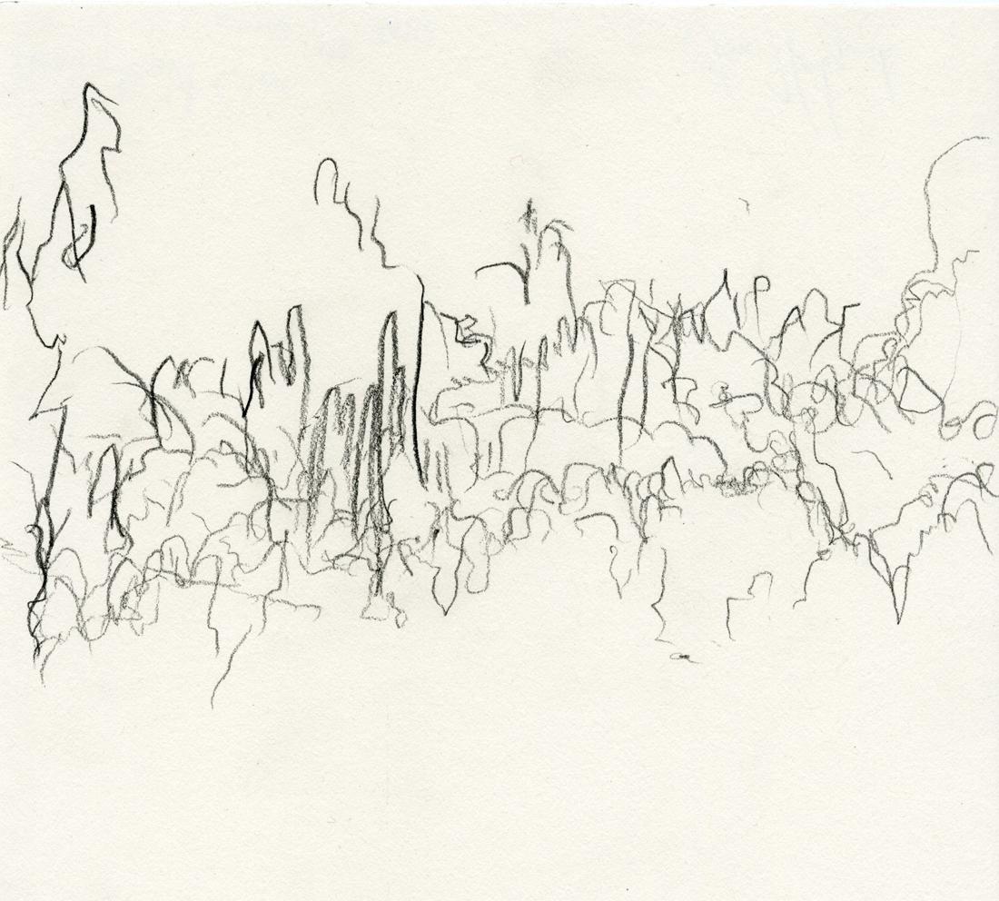 """""""Monday Night Choir"""" drawing by Jim Holyoak"""