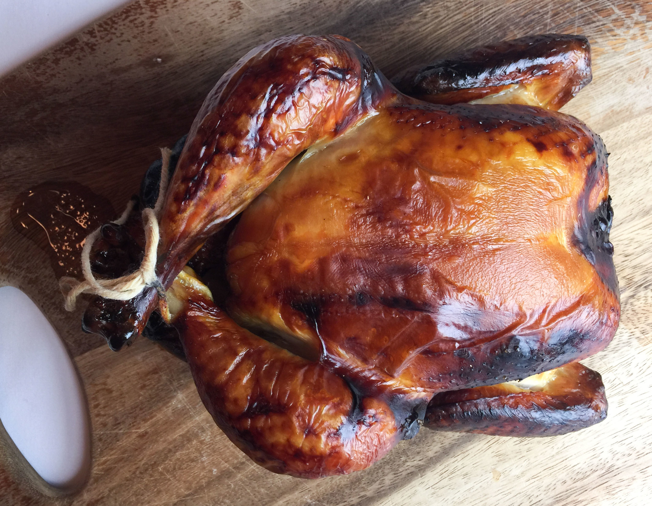 Chinese lacquered roast chicken