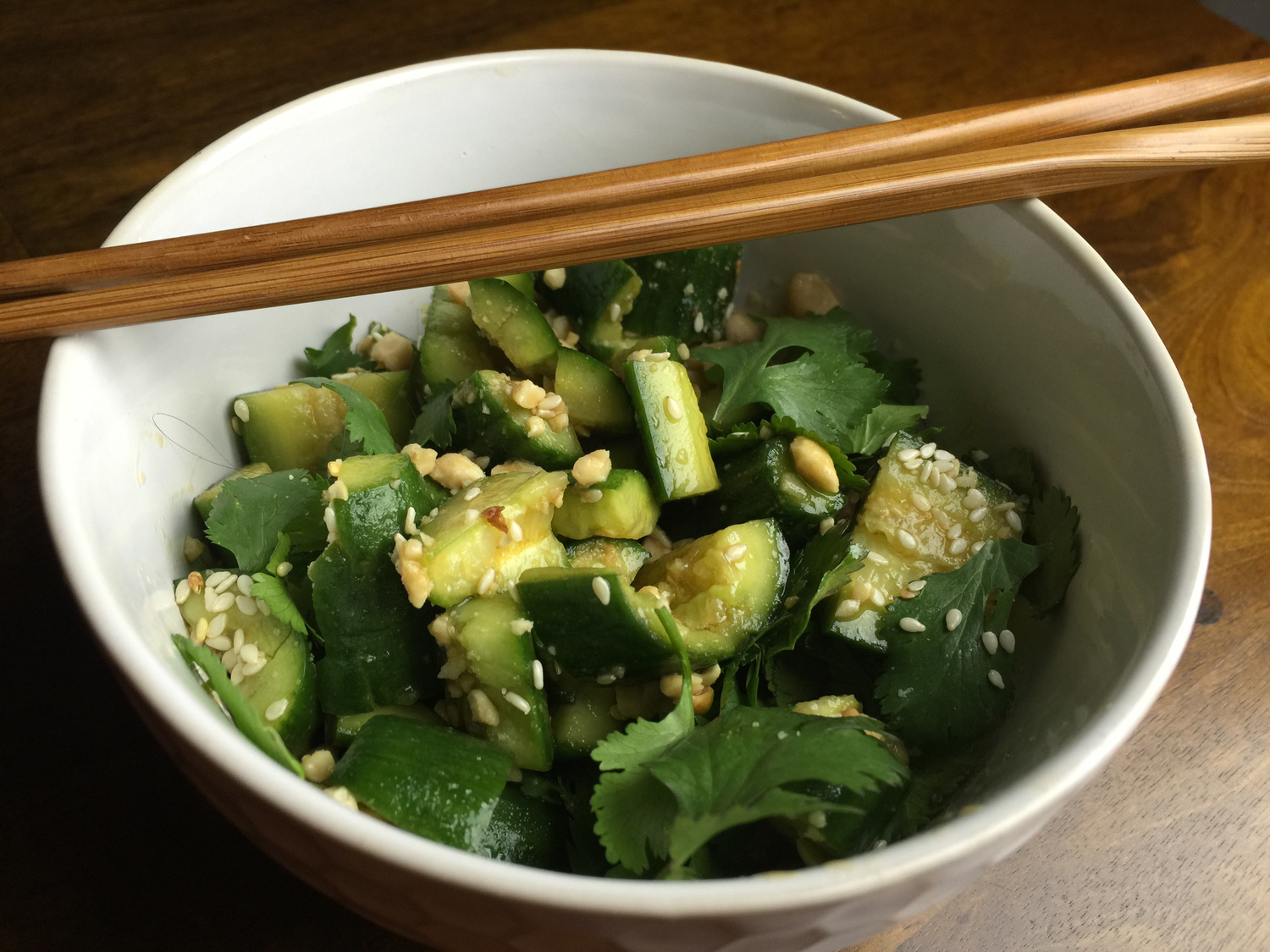 Lucky Peach's Chineasy Cucumber Salad