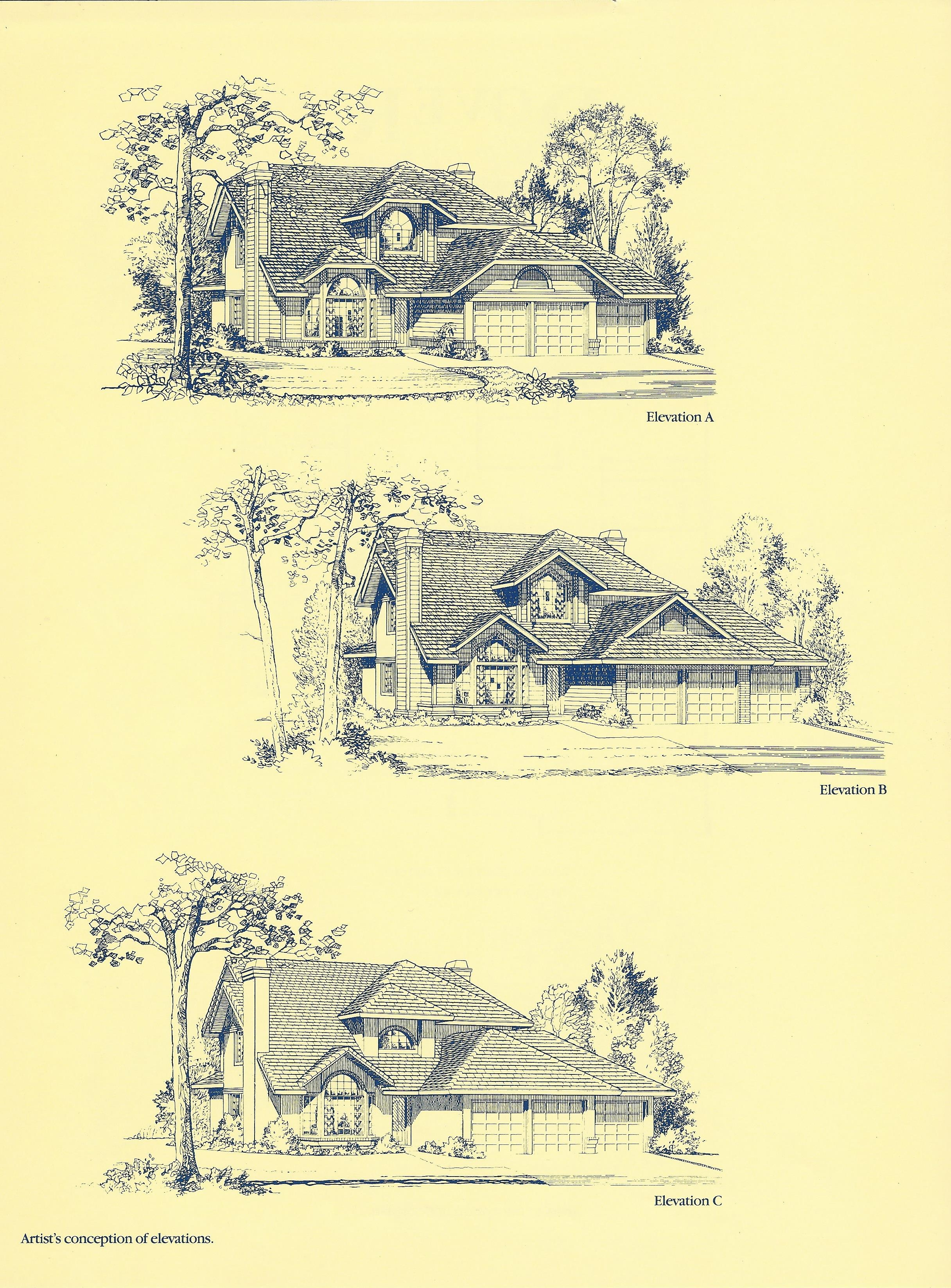 Each floorplan in Stratford Park allowed a choice of 3 different front elevations