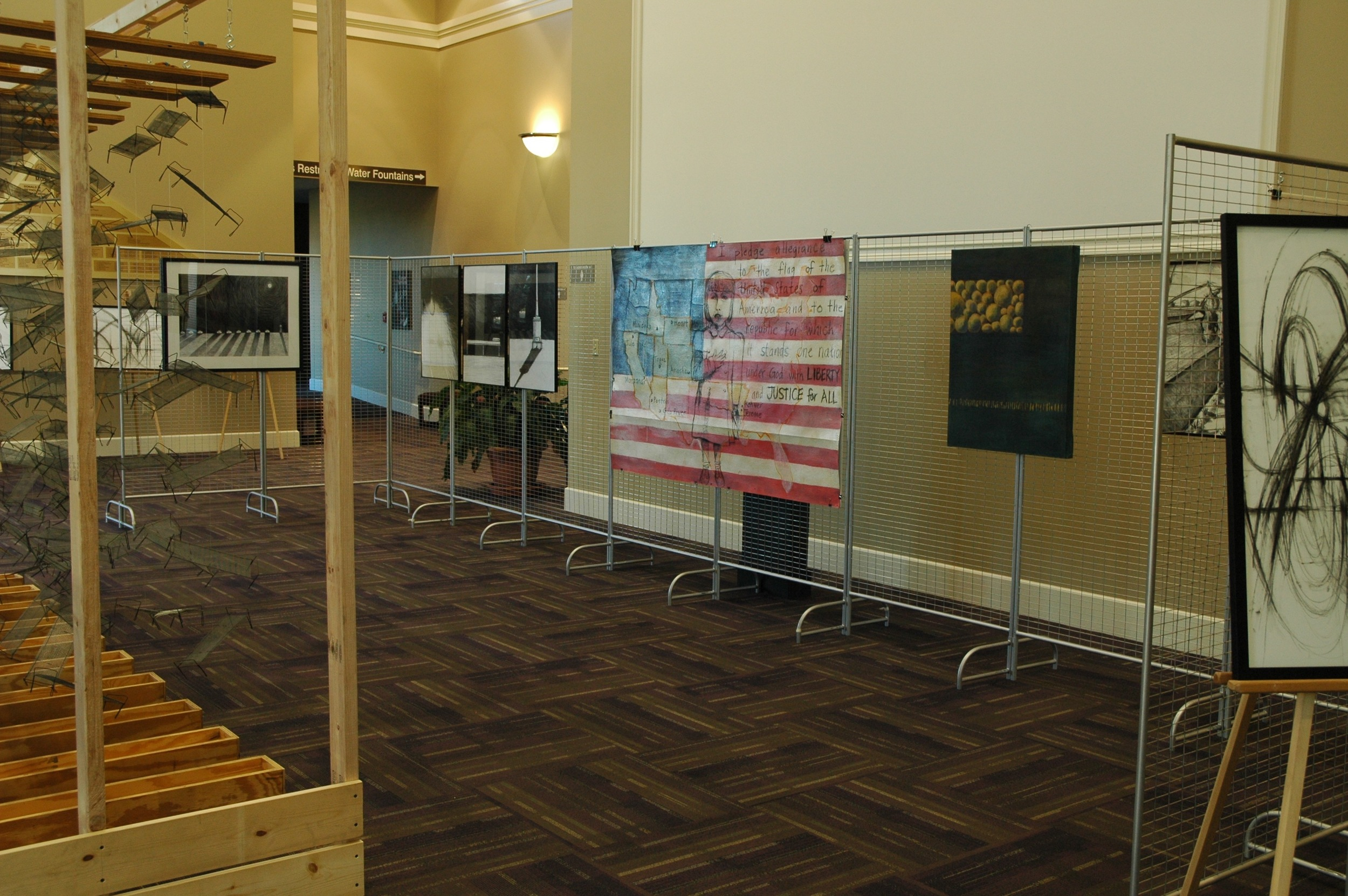 Exhibit at Reynolds Performance Hall, University of Central Arkansas for opening of Gaman. Photo by Nancy Chikaraishi