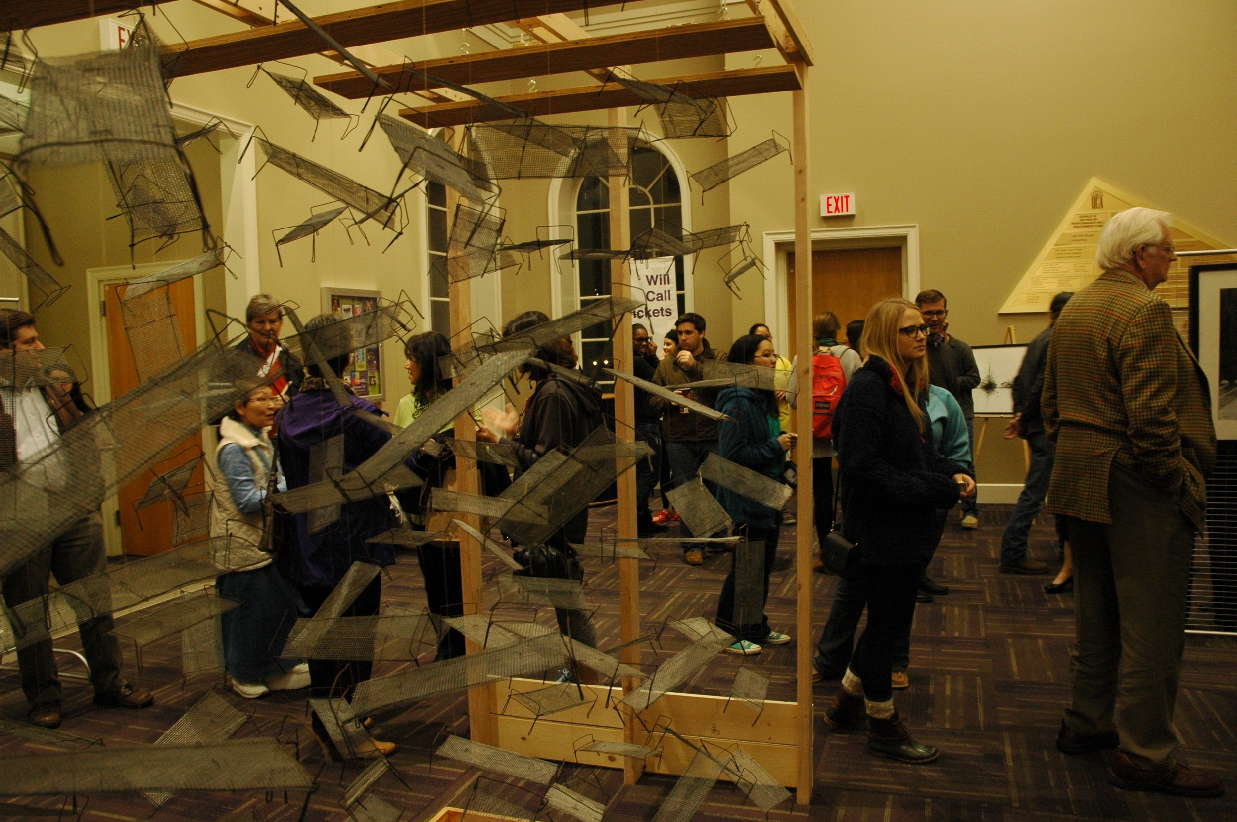 Exhibit at Reynolds Performance Hall, University of Central Arkansas for opening of Gaman  . Photo by Nancy Chikaraishi