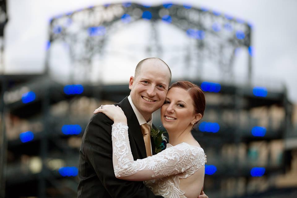 Kristin and her new husband, looking wonderful!