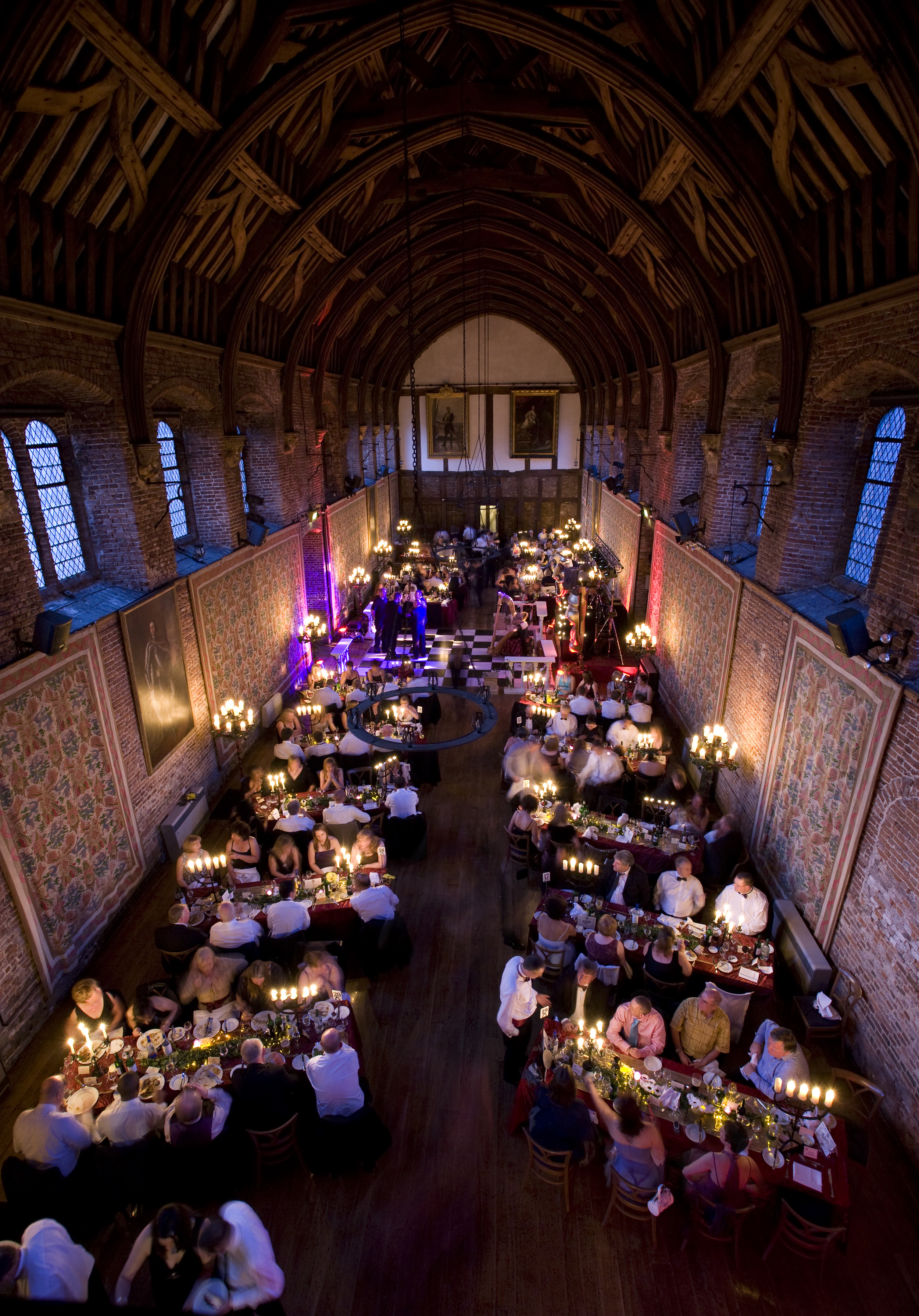 Hatfield house by candlelight.