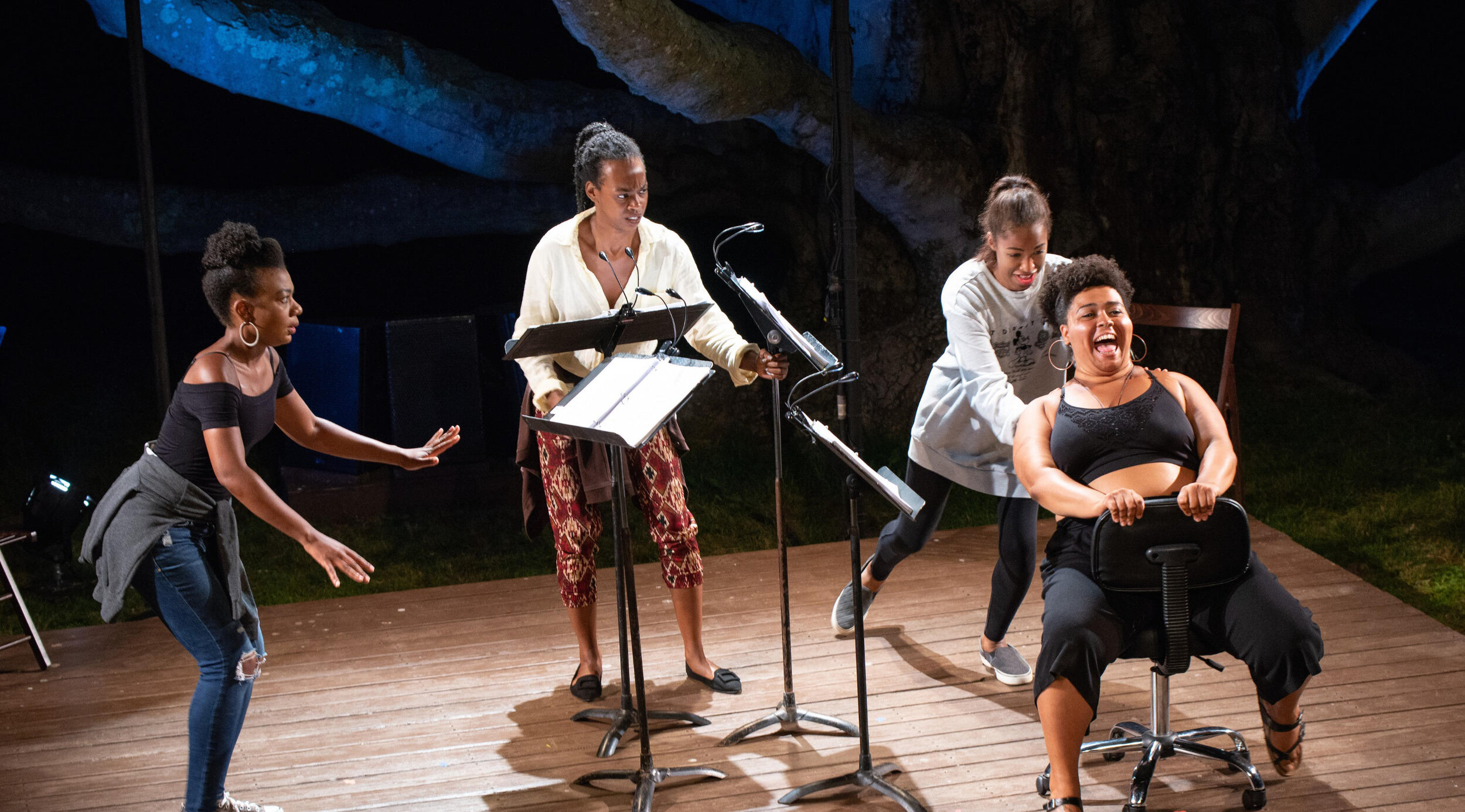 it's not a trip it's a journey  by Charly Evon Simpson at The Eugene O'Neill Theater Center Director: Nicole A. Watson | Dramaturg: Liz Frankel | Assistant Director: Leslie Roth  Cast: Deonna Bouye, Fedna Jacquet, Kita Updike & Cristina Pitter Photography: Isaak Berliner