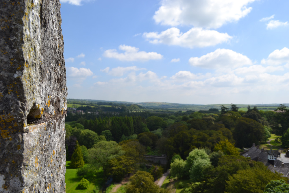 View from the Blarney Castle in Cork, Ireland