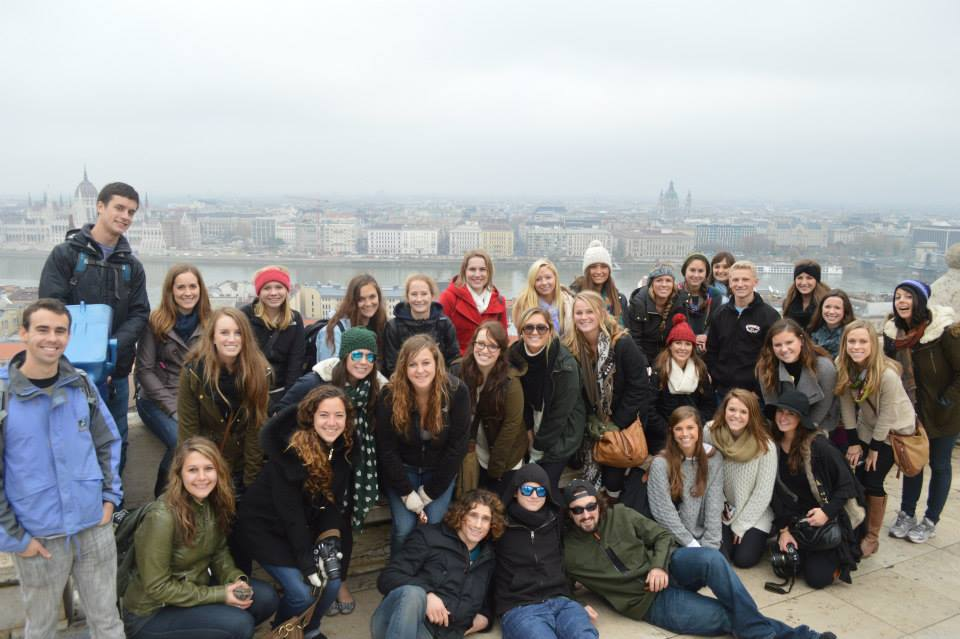 Our group of students on a weekend trip to Budapest, Hungary
