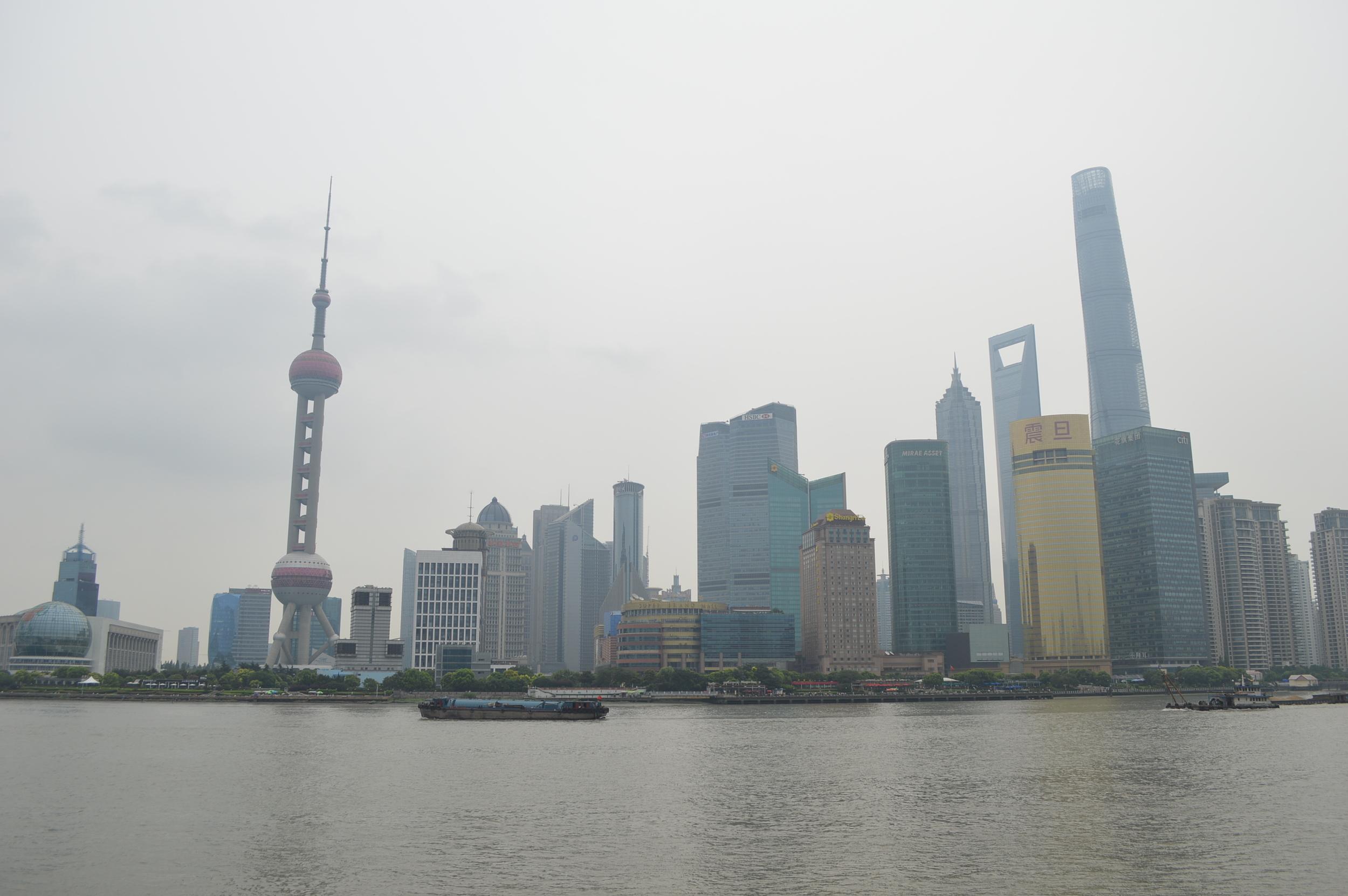 The Bund Shanghai Skyline during the daytime