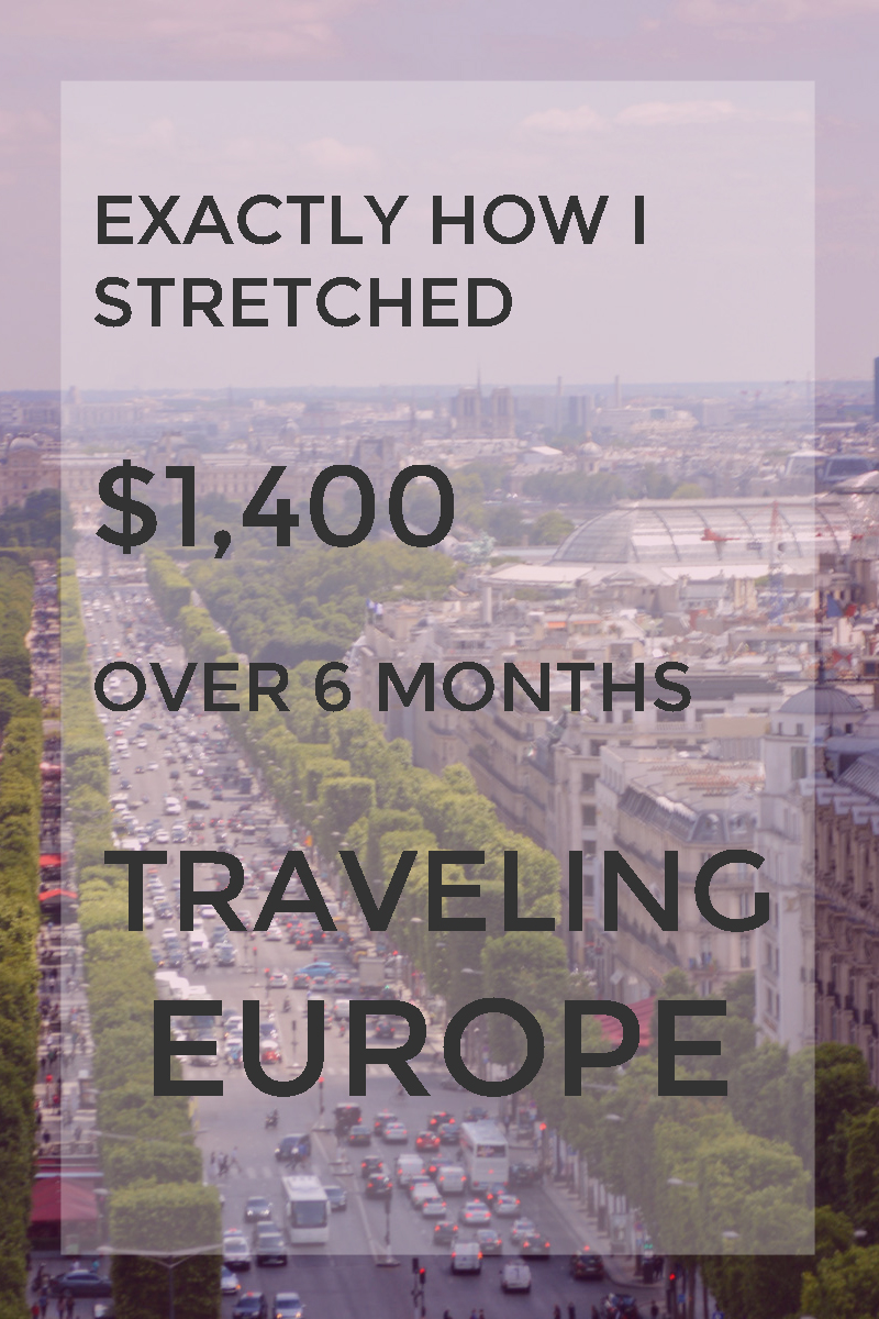 Exactly how spent only $1400 over 6 months traveling Europe