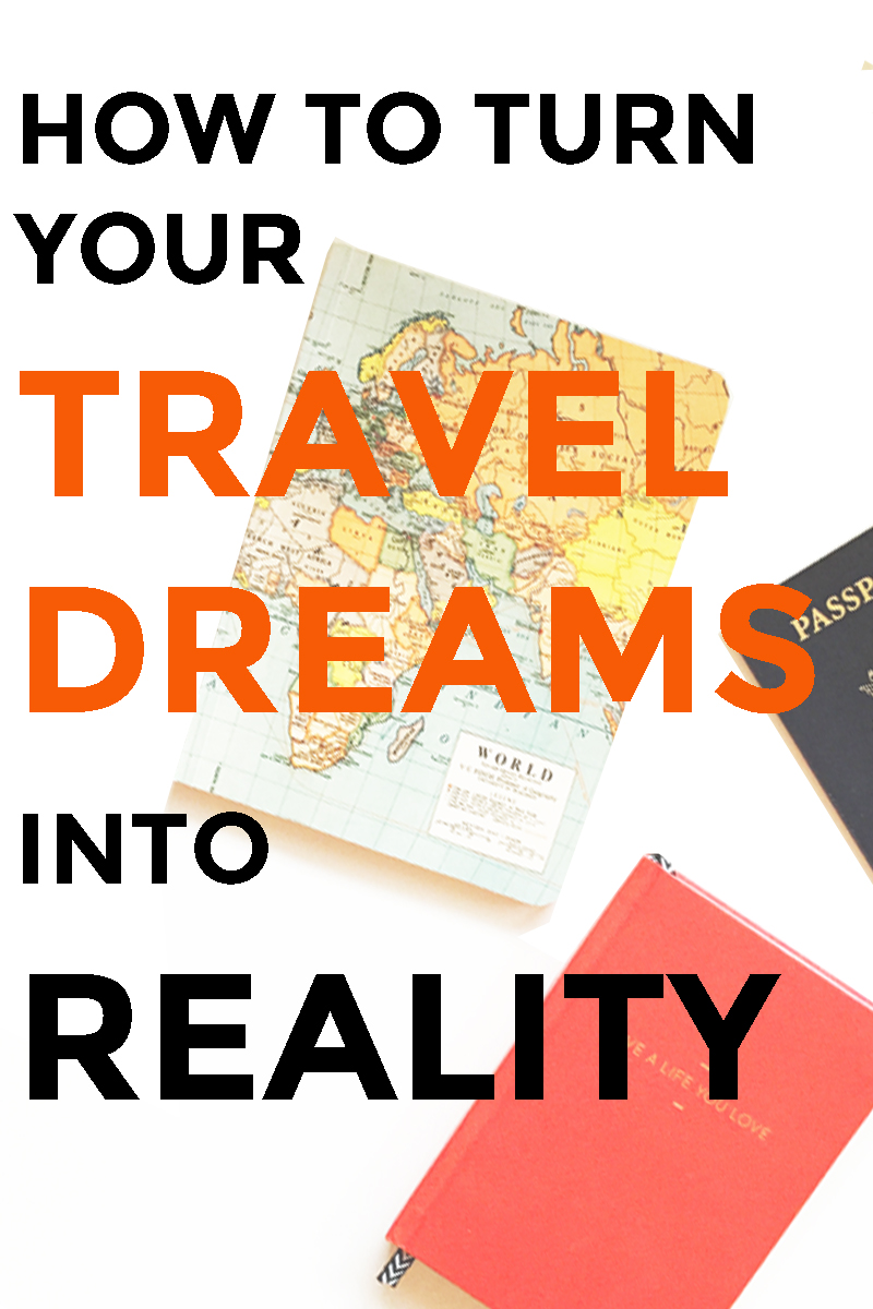 How to turn your travel dreams into reality! The must-do system for making your dreams actually happen.