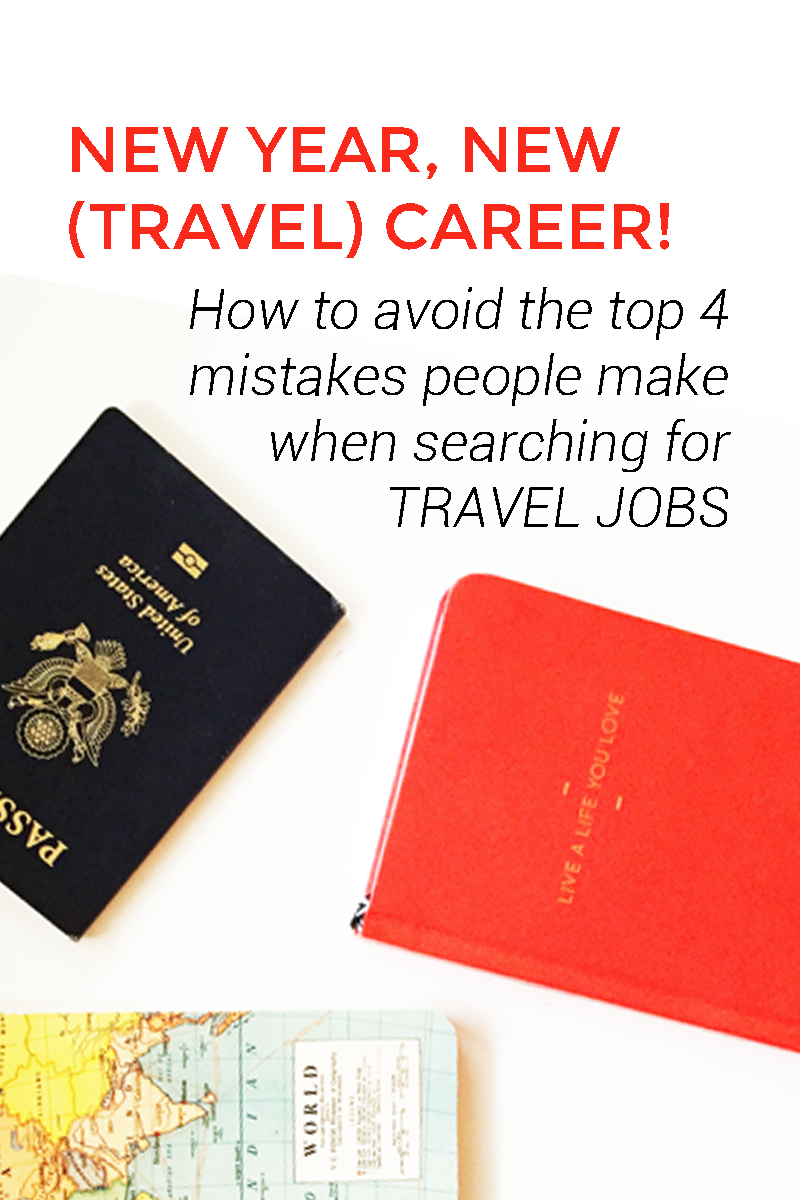 The top 4 mistakes people make when searching for travel jobs. Many of us (myself included) have been guilty of these, but when you get rid of these barriers, you'll be able to focus on what's truly important! PLUS click through to sign up for the free email course on learning how to live a work + travel lifestyle!