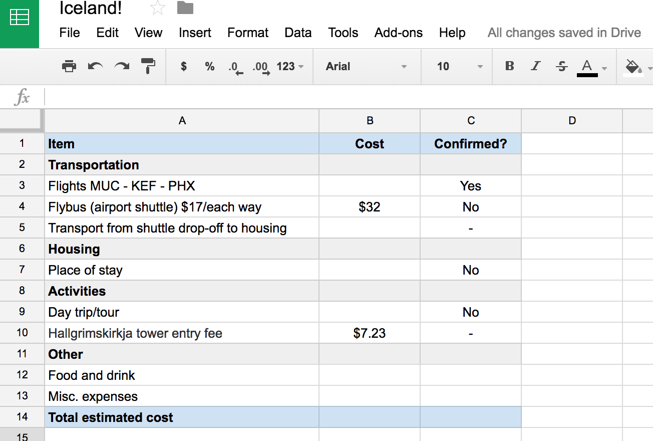 Travel planning (in the process) for an Iceland trip!