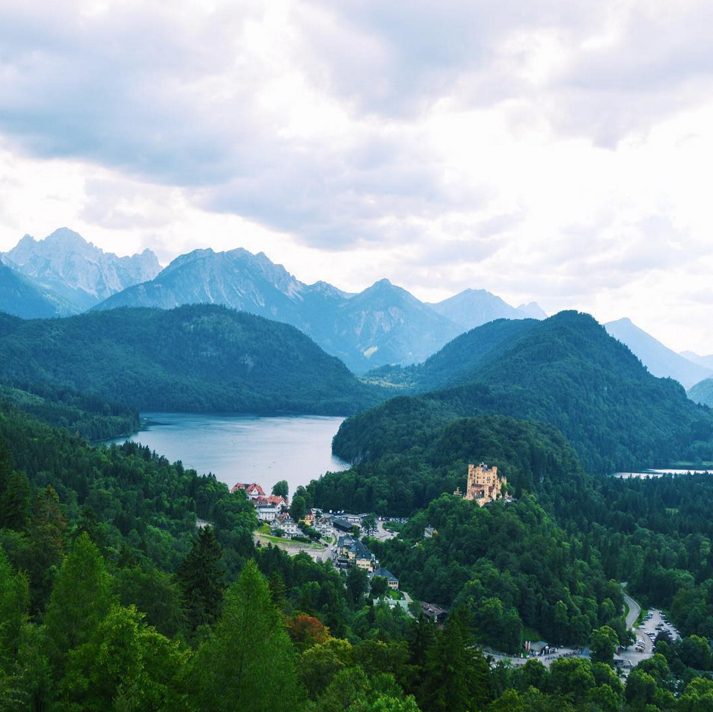 view from neuschwanstein castle in germany