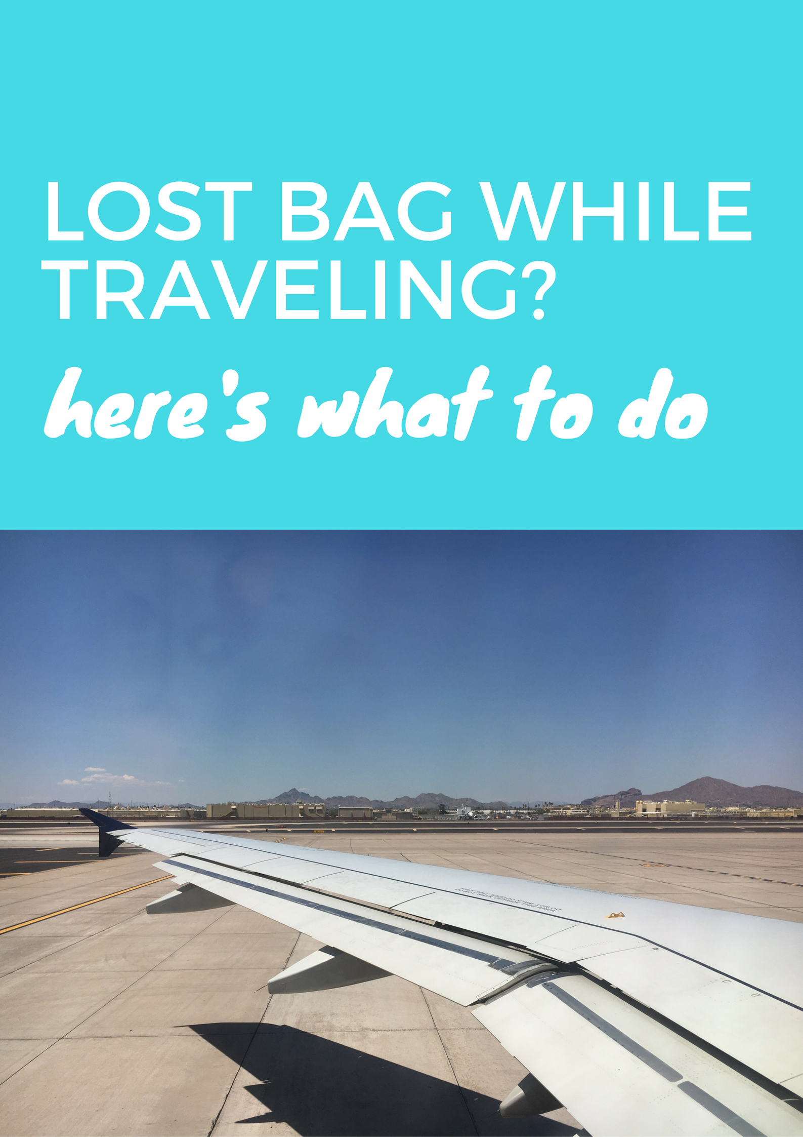 Lost Bag While Traveling? Here's What To Do