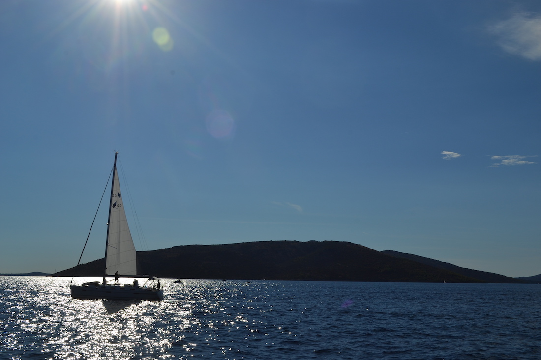 Sailing the Croatian islands near Split