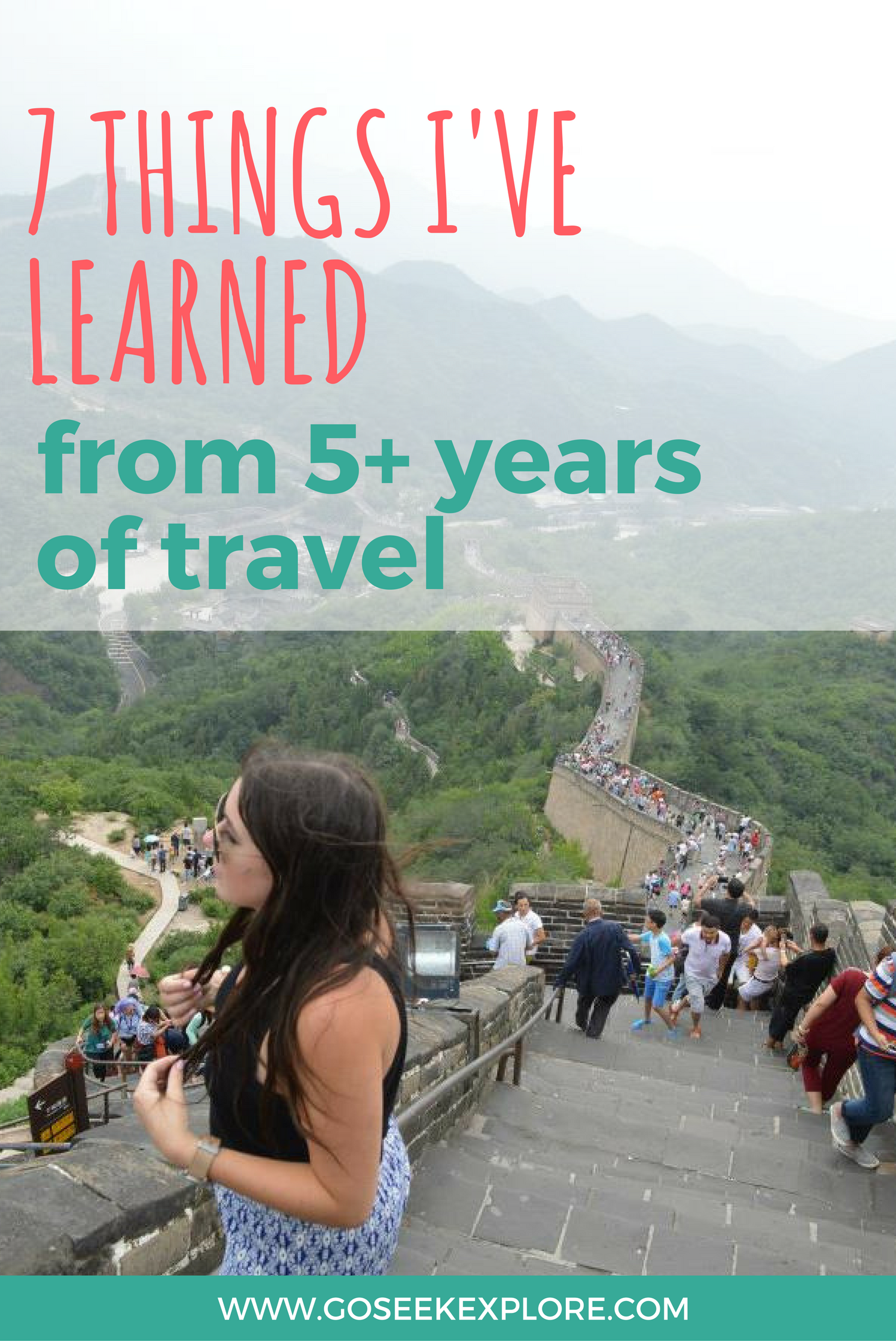 After traveling for over 5 years internationally, I've learned a lot of life lessons along the way. Do you relate to any of these?! Click through to read the full article!