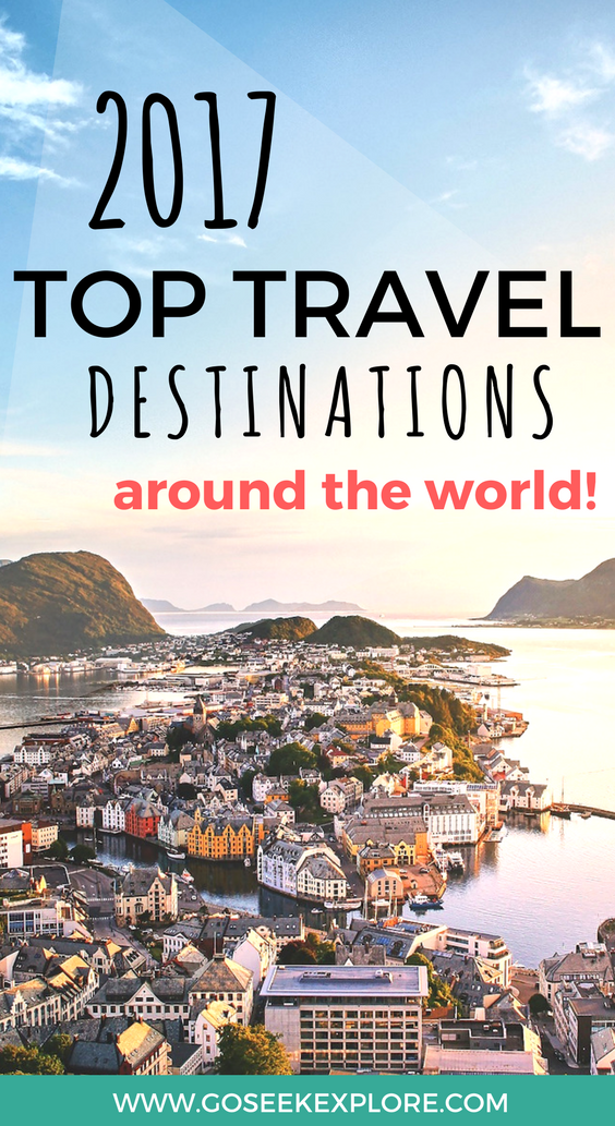 Where should you travel in 2017?! This post rounds up the top picks from the top major travel media publications like Lonely Planet and Travel + Leisure so you can get the best suggestions for your 2017 travels! Cheers!