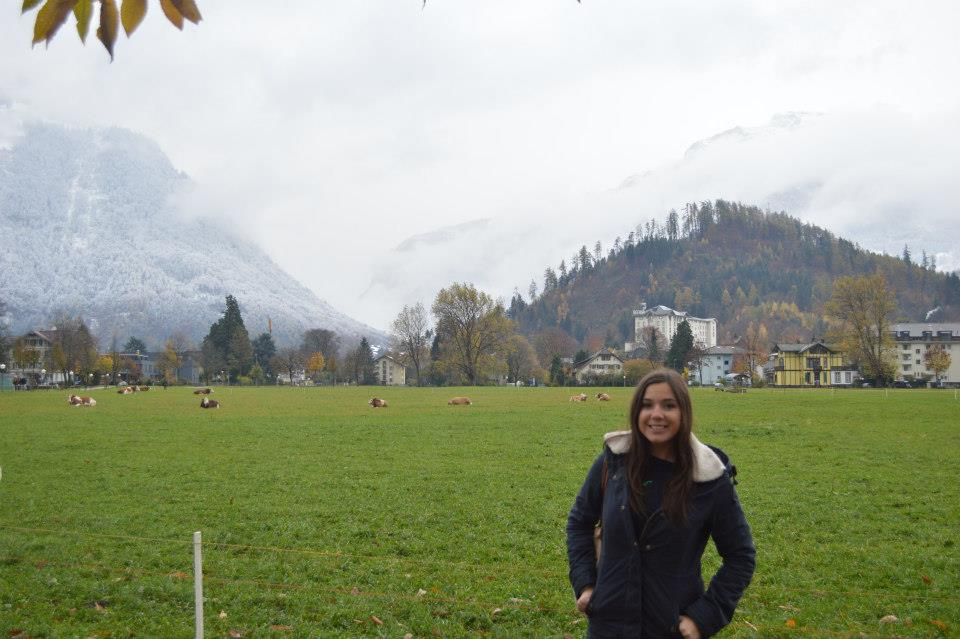 November in Interlaken, Switzerland! I didn't go up to the mountains so I was fine with a coat, sweater, and warm boots.