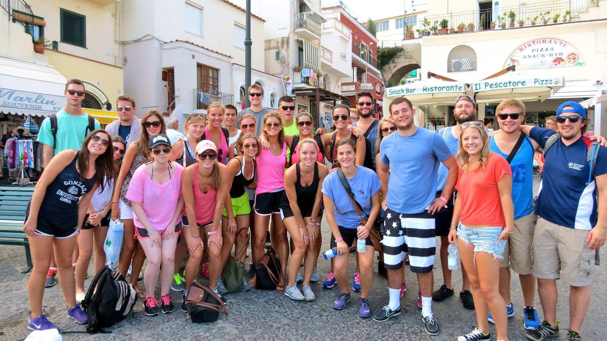 About to help lead a hike in Capri, Italy during our trip to the Amalfi Coast!